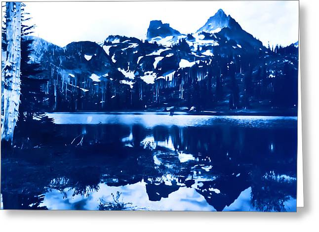 Greeting Card featuring the photograph Vintage Reflection Lake  With Ripples Early 1900 Era... by Eddie Eastwood
