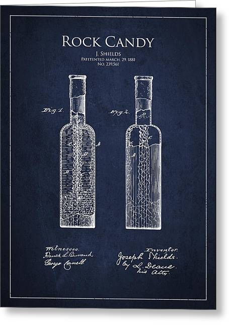 Vintage Rock Candy  Patent Drawing From 1881 Greeting Card by Aged Pixel