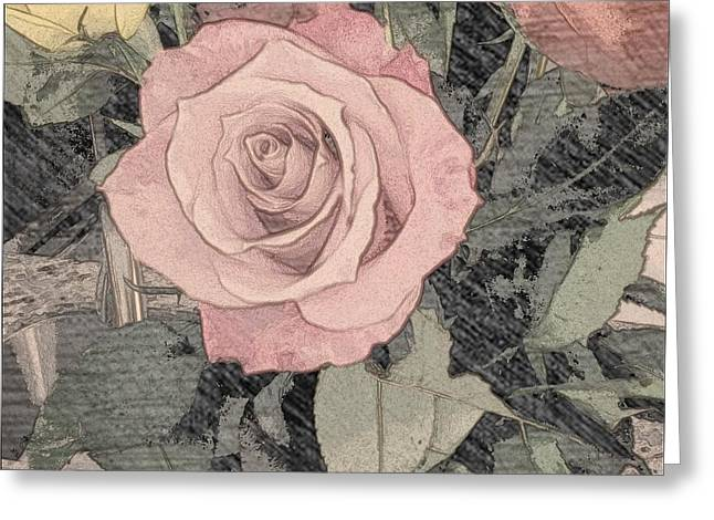 Vintage Romance Rose Greeting Card