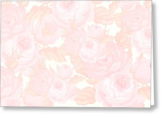 Vintage Rose Greeting Card by Chastity Hoff