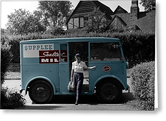 Vintage Sealtest Milk Truck Greeting Card