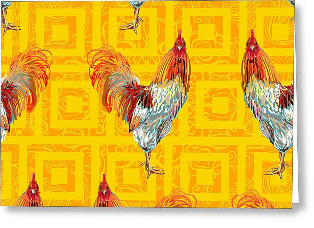 Vintage Seamless Pattern With Farm Greeting Card