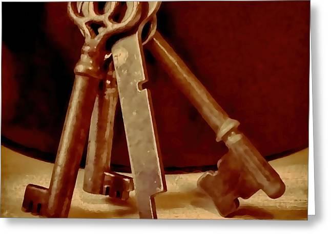 Vintage Skeleton Keys I Greeting Card