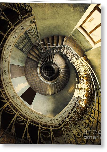 Vintage Spiral Staircase Greeting Card