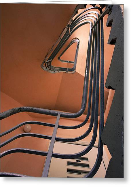 Vintage Spiral Stairs Greeting Card