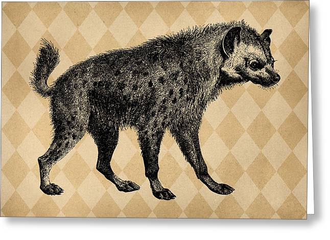 Spotted Hyena Greeting Card by Flo Karp