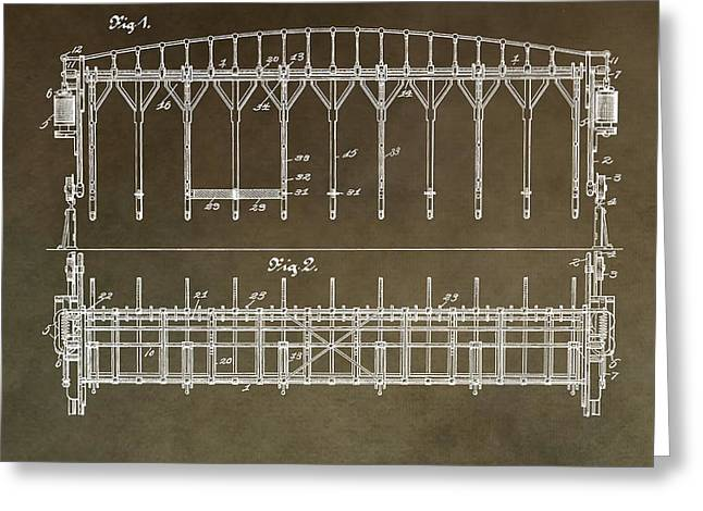 Vintage Starting Gate Patent Greeting Card by Dan Sproul
