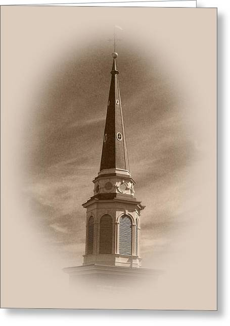 Vintage Steeple Greeting Card by Pharris Art