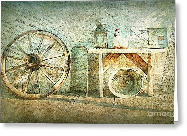 Vintage Still Life Greeting Card by Jutta Maria Pusl