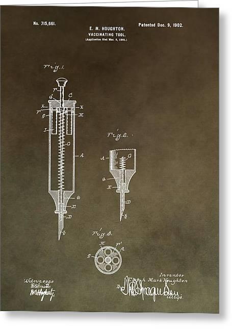 Vintage Syringe Patent Greeting Card