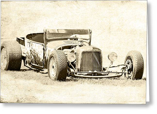 Vintage T Bucket Ford Greeting Card