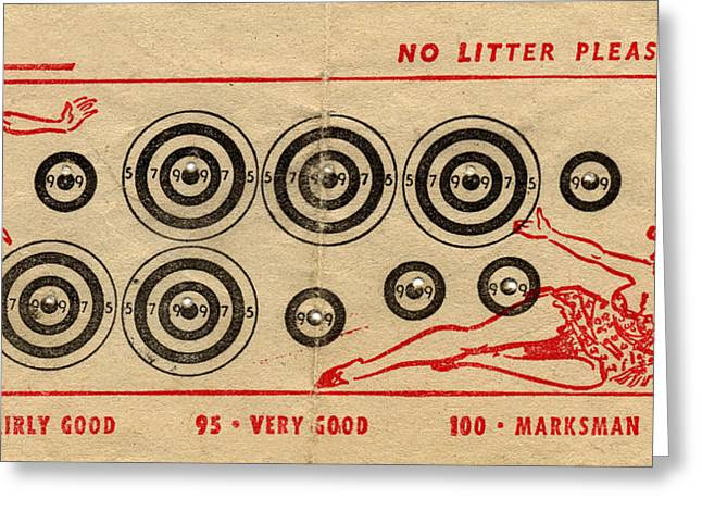 Target shooting greeting cards page 5 of 7 fine art america vintage target card greeting card m4hsunfo