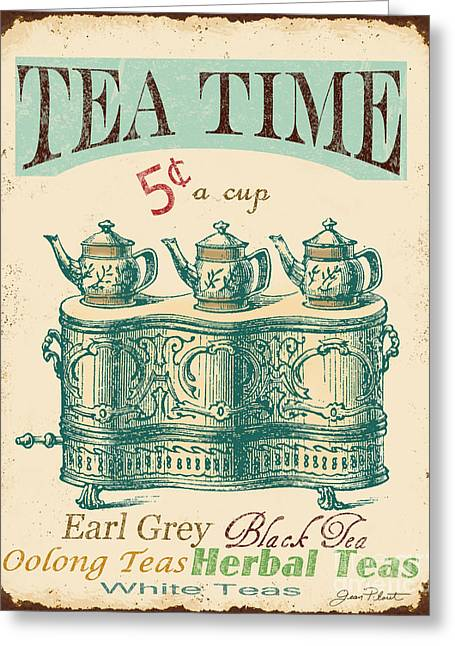 Vintage Tea Time Sign Greeting Card