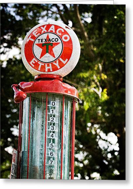Vintage Texaco Gas Pump Greeting Card