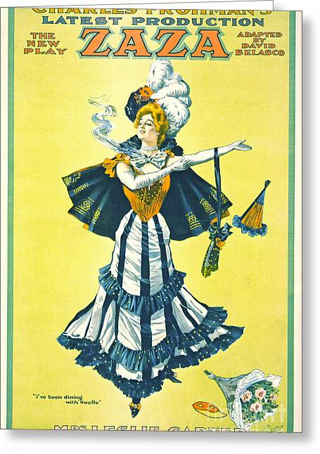 Vintage Theatrical Playbill 1899 Greeting Card by Padre Art