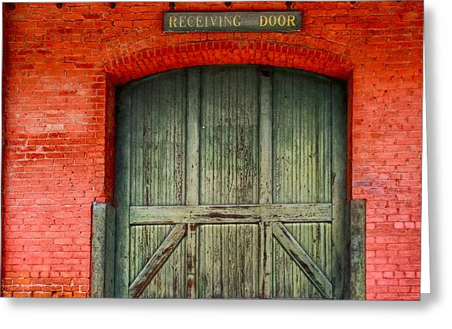 Vintage Train Depot Receiving Door - Augusta Greeting Card