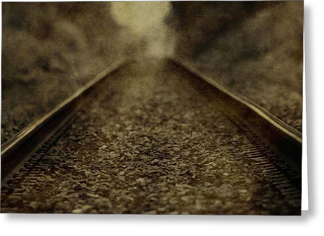 Vintage Train Tracks Greeting Card by Dan Sproul