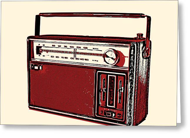 Vintage Transistor Radio Greeting Card