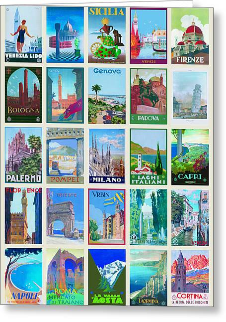 Vintage Travel - Italy Greeting Card