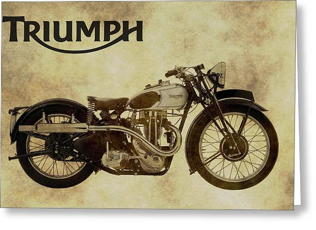 Vintage Triumph Motorcycles Greeting Card