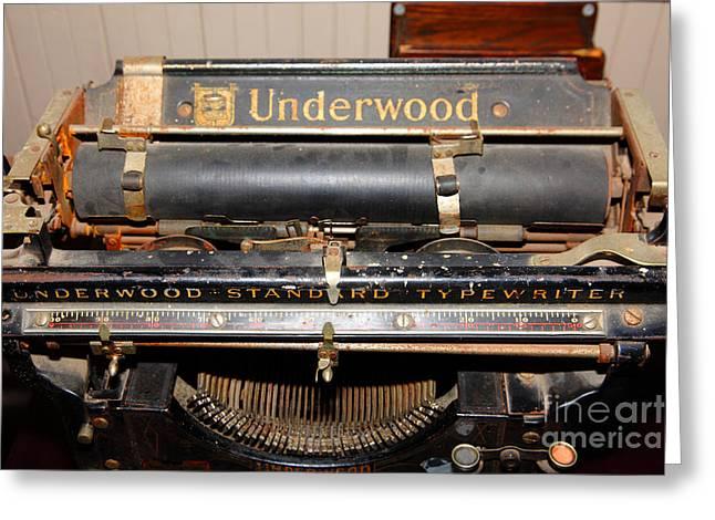 Vintage Underwood Typewriter 5d25836 Greeting Card