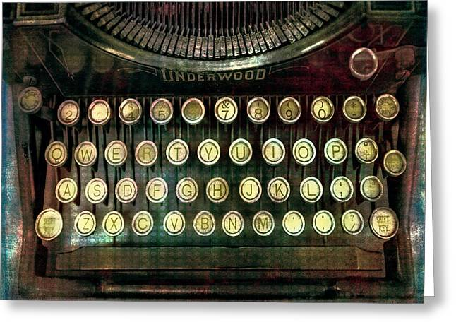 Vintage Underwood Typewriter Greeting Card by Bellesouth Studio