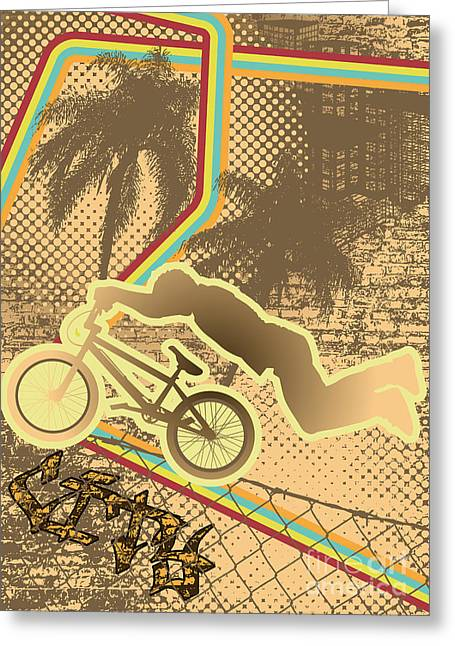 Vintage Urban Grunge Background Design Greeting Card by Shockydesign