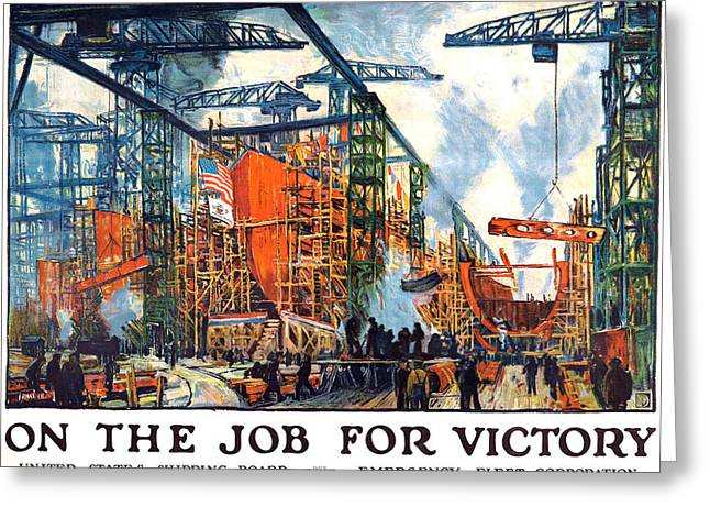 Vintage Us Shipping Poster Greeting Card