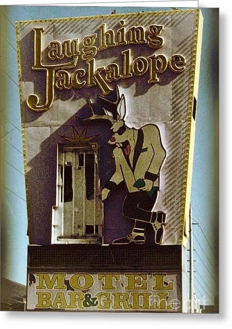 Vintage Vegas Greeting Card by John Malone
