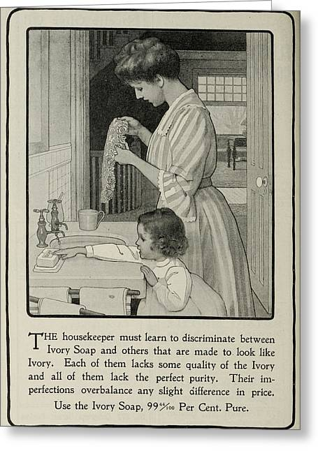 Vintage Victorian Soap Advert Greeting Card