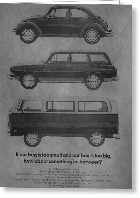 Vintage Volkswagen Ad 1971 Greeting Card