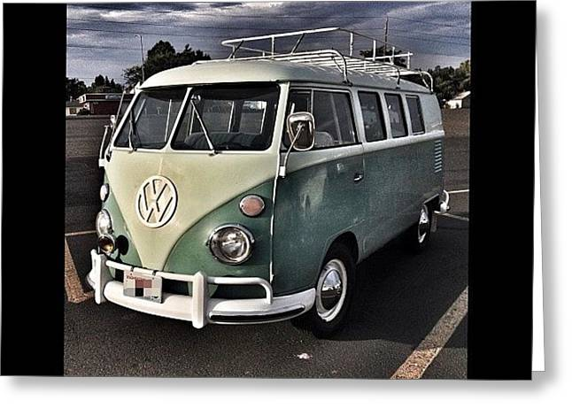 Vintage Volkswagen Bus 1 Greeting Card