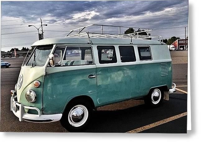 Vintage Volkswagen Bus 2 Greeting Card