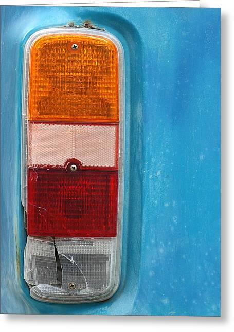 Vintage Volkswagen Van Light Greeting Card by Mr Doomits