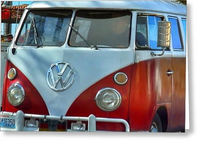 Vintage Vw Bus. #vw #bus #bellingham Greeting Card