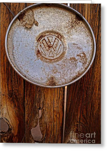 Vintage Vw Hubcap Greeting Card