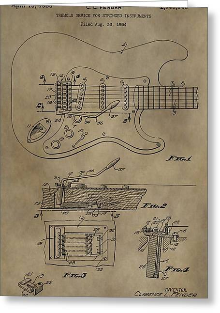 Vintage Whammy Bar Patent Greeting Card