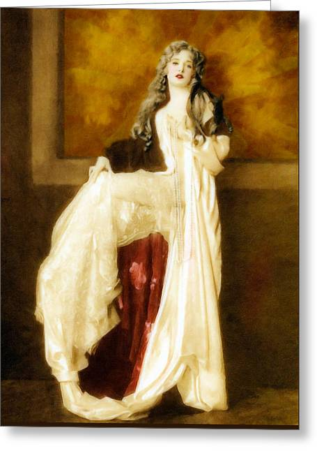 Vintage White Passion  Greeting Card by Georgiana Romanovna
