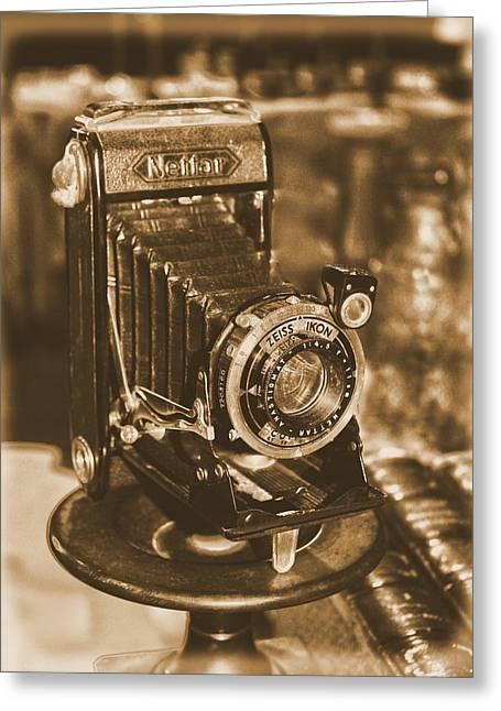 Vintage Zeiss Ikon Camera Greeting Card by Guna  Andersone