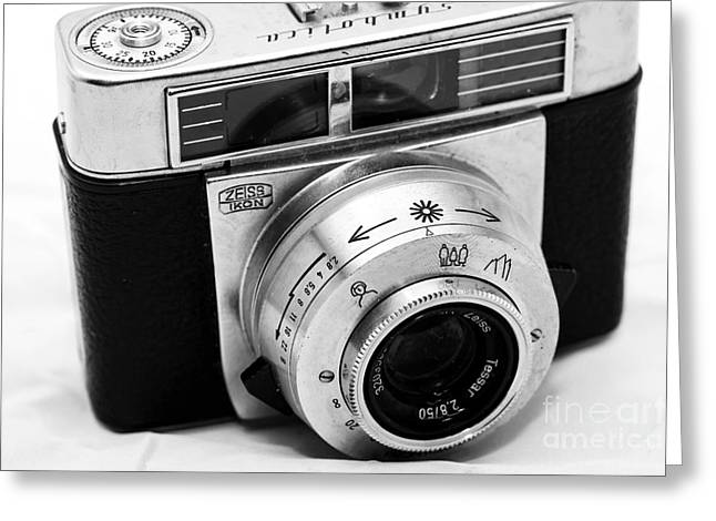Vintage Zeiss Ikon Greeting Card by John Rizzuto