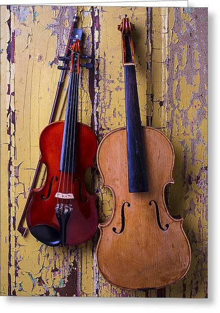 Viola And Violin Greeting Card by Garry Gay