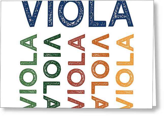 Viola Cute Colorful Greeting Card by Flo Karp