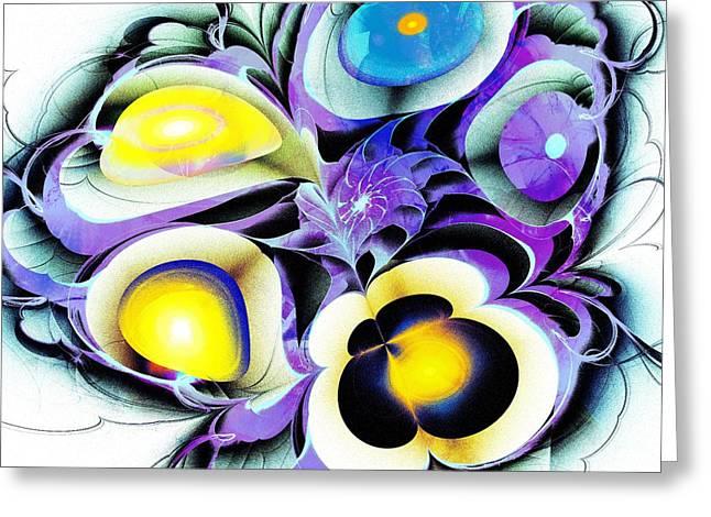 Viola Tricolor Greeting Card by Anastasiya Malakhova