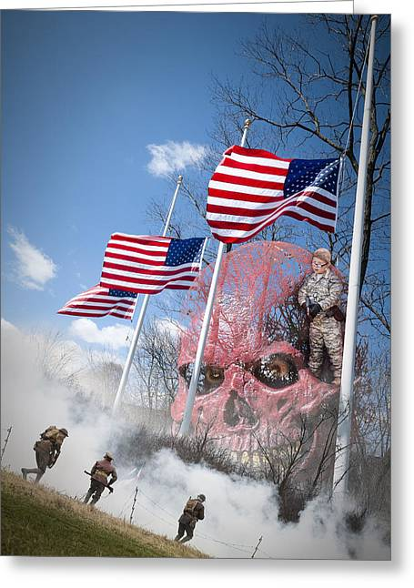 Violence Usa Greeting Card