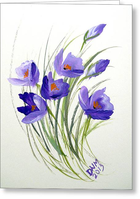 Violet Crocus Greeting Card