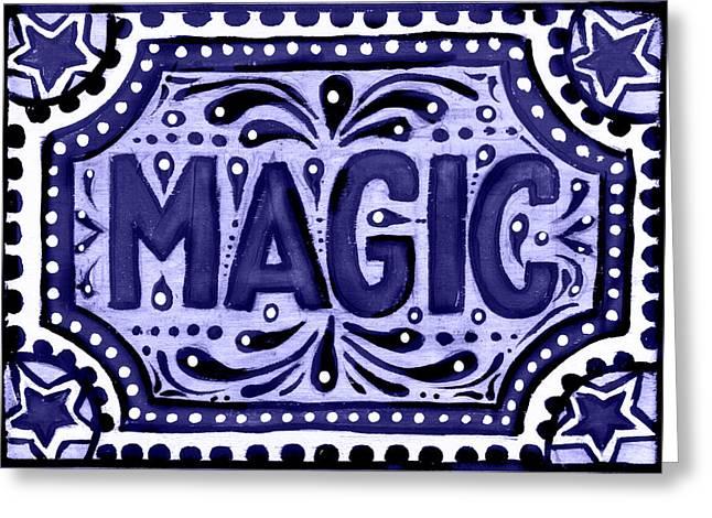 Violet Magic  Greeting Card