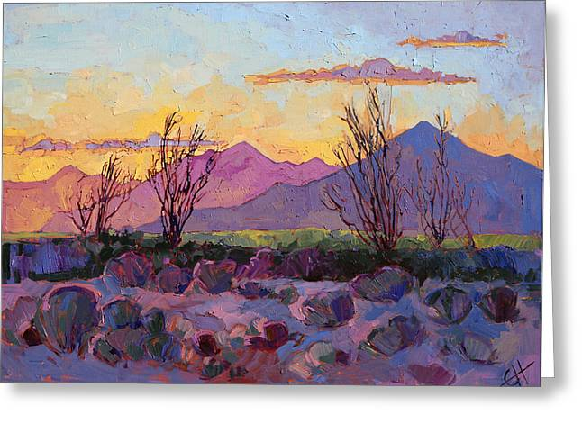 Violet Point Greeting Card by Erin Hanson