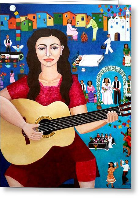 Violeta Parra And The Song Black Wedding II Greeting Card