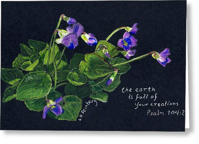 Violets And Psalm 104 Greeting Card