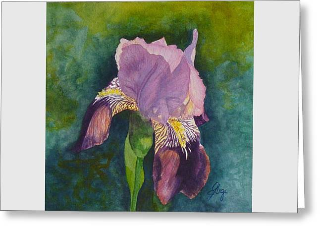 Greeting Card featuring the painting Violetta by Gigi Dequanne